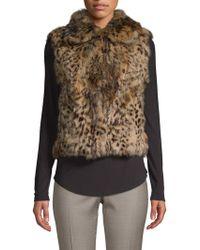 Adrienne Landau - Leopard-print Rabbit Fur Vest - Lyst