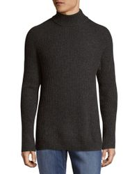 Vince Camuto - Ribbed Mockneck Sweater - Lyst