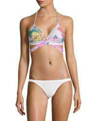 6 Shore Road By Pooja - La Playa Floral Wrap Bikini Top - Lyst