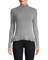 John + Jenn - Levy Ruffle Mockneck Sweater - Lyst