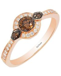 Le Vian - Chocolatier Deco Estate Vanilla Diamond, Chocolate Diamond And 14k Strawberry Gold Ring - Lyst