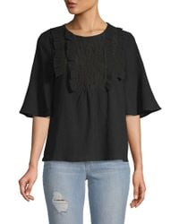 Moon River - Ruffled Cotton Top - Lyst