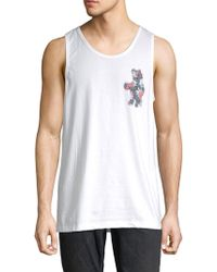 Riot Society - Floral Bear Cotton Tank Top - Lyst