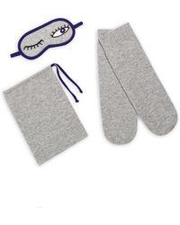 Saks Fifth Avenue - Three-piece Cashmere Sleeping Mask, Socks & Pouch Set - Lyst