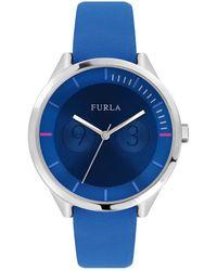Furla - Metropolis Stainless Steel Leather-strap Watch - Lyst