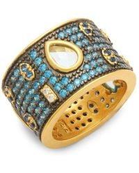 Freida Rothman - Baroque Pavé Crystal Ring - Lyst