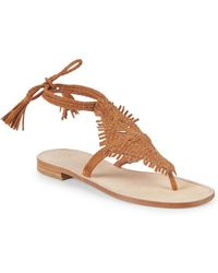 Joie - Kacia Leather Ankle Strap Sandals - Lyst