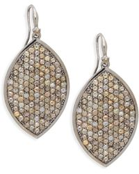 Bavna - Sterling Silver & Diamond Drop Earrings - Lyst