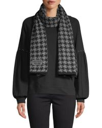 Boutique Moschino - Houndstooth Knit Scarf - Lyst