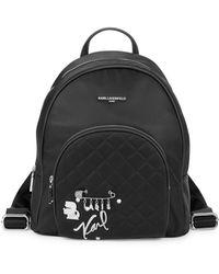 Karl Lagerfeld - Logo Embellished Backpack - Lyst