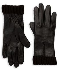 Saks Fifth Avenue - Nappa Knit Cuff Gloves - Lyst