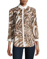 Basler - Printed Button-down Shirt - Lyst