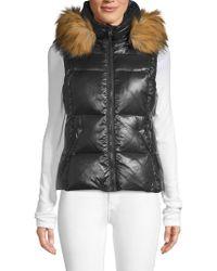 S13/nyc - Faux-fur Trim Down Puffer Vest - Lyst