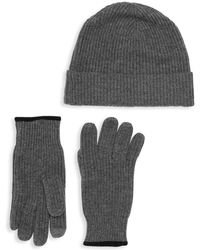 Saks Fifth Avenue Boxed 2-piece Wool Cashmere Beanie & Gloves Set