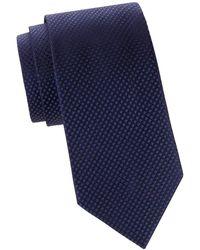 Armani Textured Silk Tie - Blue