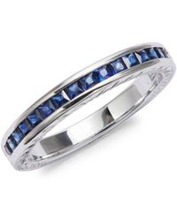 Effy - Sapphire, 18k Gold And 18k White Gold Ring - Lyst