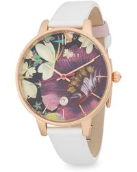 Ted Baker - Floral Dial Analog Watch - Lyst