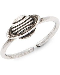Valentino - Planet-shaped Rustic Statement Ring - Lyst