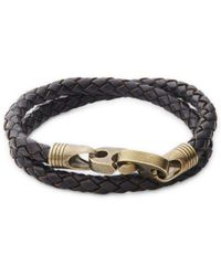 Link Up - Braided Leather Wrap Bracelet - Lyst