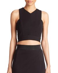 ABS By Allen Schwartz - Cross-back Crop Top - Lyst