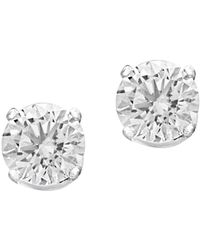 Effy - Diamond And 14k White Gold Round Stud Earrings, 0.74 Tcw - Lyst