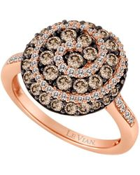 Le Vian - Chocolate Diamond Ring In 14 Kt. Strawberry Gold - Lyst