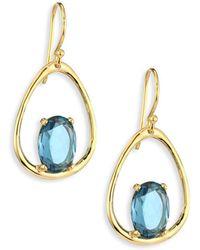 Ippolita - Rock Candy® Small London Blue Topaz & 18k Yellow Gold Oval Earrings - Lyst