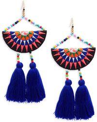 Panacea | Tassel Beaded Drop Earrings | Lyst