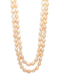 Kenneth Jay Lane - Simulated Pearl And Crystal Two-row Necklace - Lyst