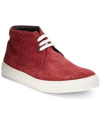 Bugatchi - Italian Suede High-top Trainers - Lyst