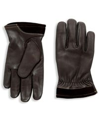 UGG - Capitan Leather Gloves - Lyst