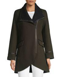 Trina Turk - Mackenzie Leather-trimmed Moto Coat - Lyst