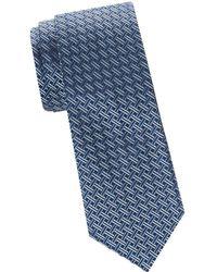 Saks Fifth Avenue - Basket Weave Silk Tie - Lyst