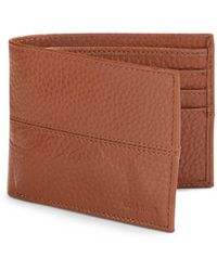 Cole Haan - Pebbled Leather Billfold Wallet - Lyst