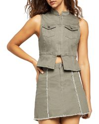 BCBGeneration - Split-front Denim Vest - Lyst