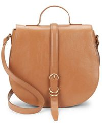 Halston - Smooth Leather Saddle Bag - Lyst