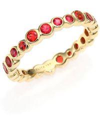 Ippolita - Glamazon Starlet Orange Sapphire & 18k Yellow Gold Band Ring - Lyst