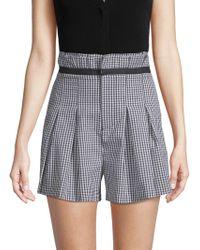Kendall + Kylie - Gingham Paperbag Shorts - Lyst