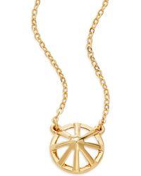 Rebecca Minkoff - Wheel Pendant Necklace - Lyst