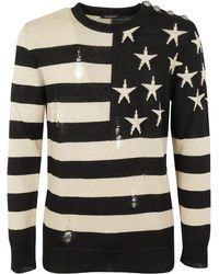 Balmain - Stars And Stripes Jumper - Lyst