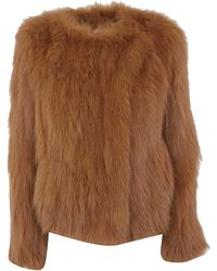 Yves Salomon - Jacket Knitted Fox Bellies - Lyst
