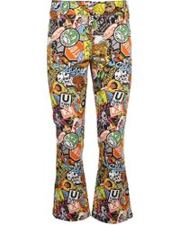 Moschino | Patch Print Trousers | Lyst