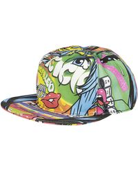 Moschino - Multicoloured Graphic Visor Cap - Lyst