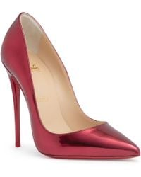 Christian Louboutin - So Kate 120 Metallic Red Patent Leather Pumps - Lyst