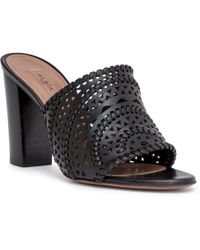 Alaïa - Black Braided Leather Mules - Lyst