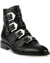 Givenchy | Elegant Flank Black Leather Boot | Lyst