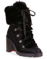 4e9d556fc2d7 Christian Louboutin Fanny Genuine Raccoon Fur Boot in Brown - Lyst