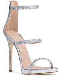 Giuseppe Zanotti - Harmony 120 Silver Glitter Sandals - Lyst