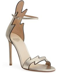 Francesco Russo - Metallic Gold 105 Flame Sandals - Lyst