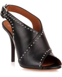 Givenchy - Black Leather Cross-over Sandal Us - Lyst
